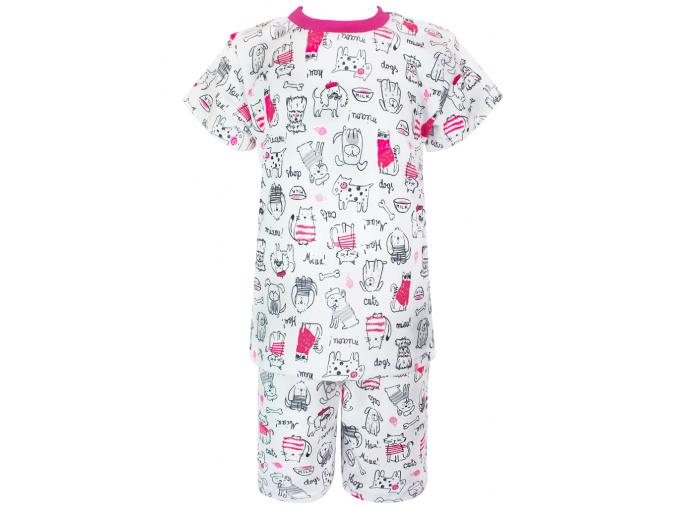 Dětské letní pyžamo pejsci a kočičky
