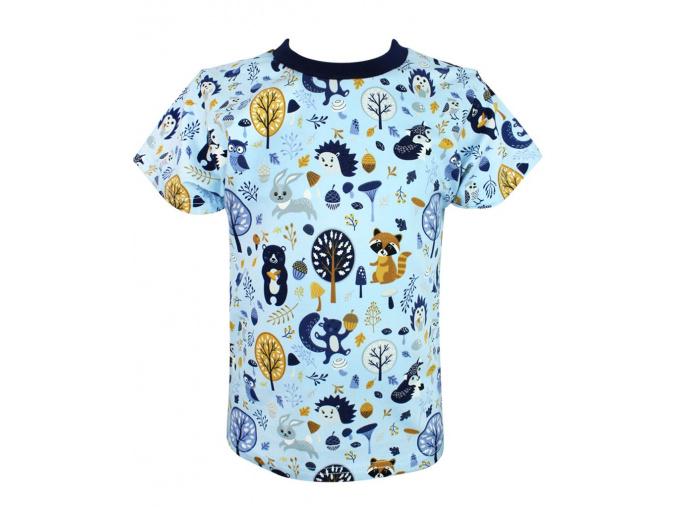 Dětské tričko modrý les zvířátka compressor