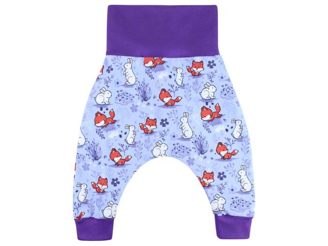 Dětské turky lišky a králíčci na fialové