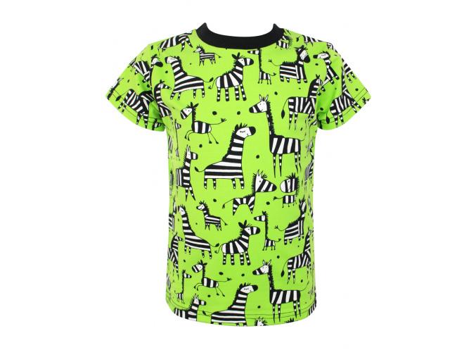 Dětské tričko zebry na zelené