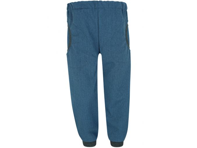 Dětské softshellové kalhoty s kapsami džínové