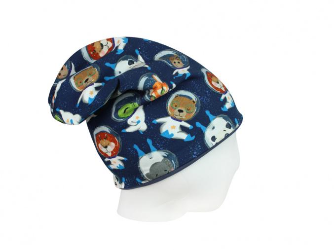 Dětská čepice kosmonauti