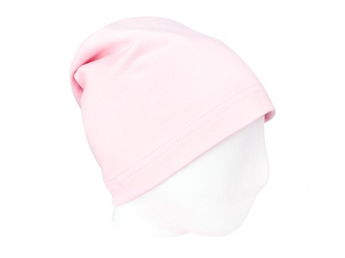 Dětská jarní světle růžová čepice