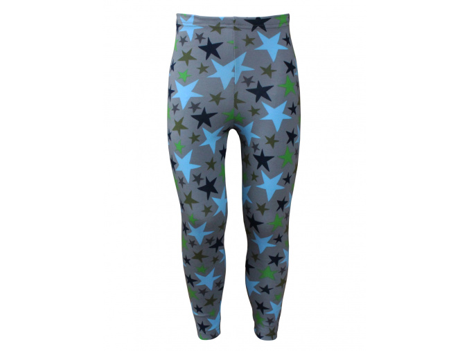 Dětské šedé legíny s hvězdami