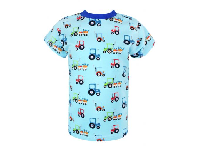 Dětské modré triko traktory