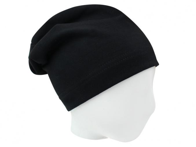 Černá dětské jarní čepice