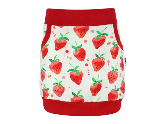 Dětská sukně jahody