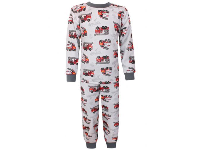 Dětské pyžamo hasiči na šedé