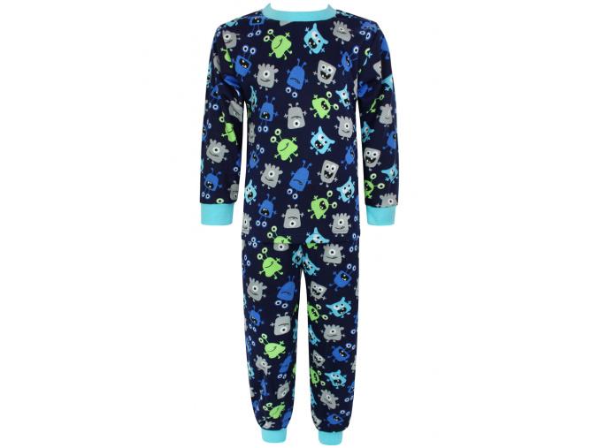 Dětské pyžamo příšerky na modré