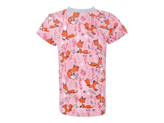 Dětské triko lišky na růžové