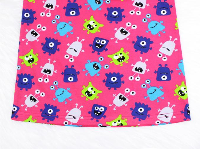 Dětské noční košile růžové příšerky