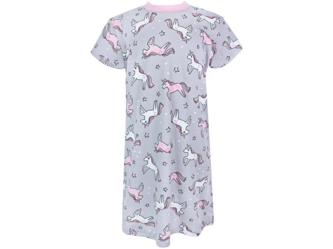 Dětská noční košile jednorožci na šedé