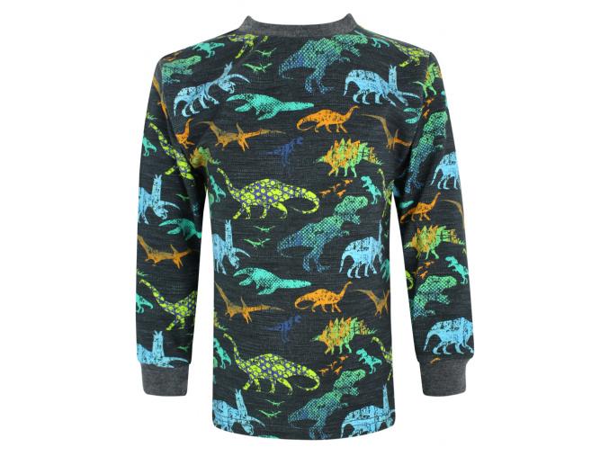 Dětské tričko s dlouhým rukávem dinosauři