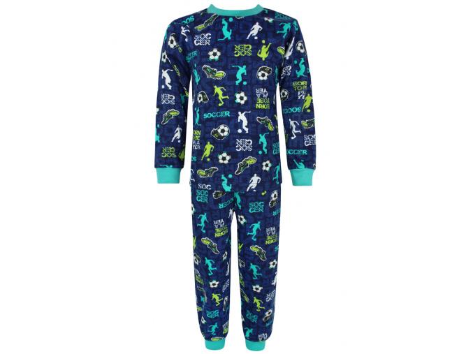 Dětské pyžamo kopačky a fotbalisti