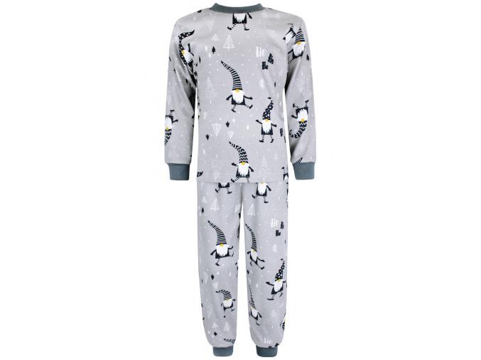 Dětské vánoční pyžamo šedí skřítci