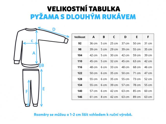 Dětské růžové pyžamo baletky miniatura