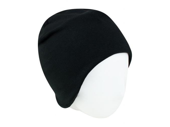Dětská zateplená černá čepice