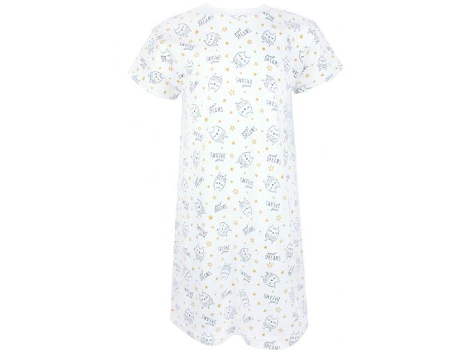 Dětská noční košile sovičky na smetanové obr