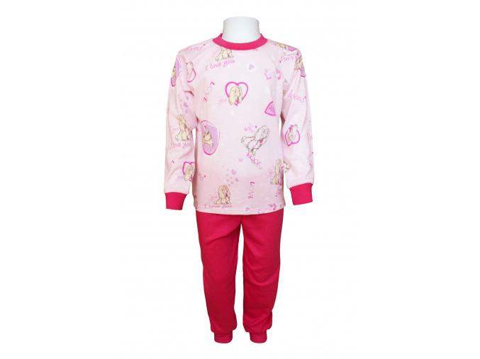 Pyžamko s růžovými pejsky
