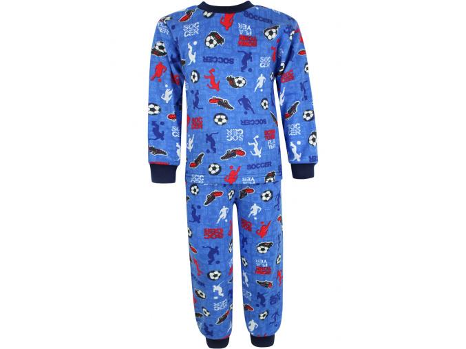 Dětské pyžamo fotbal na modré