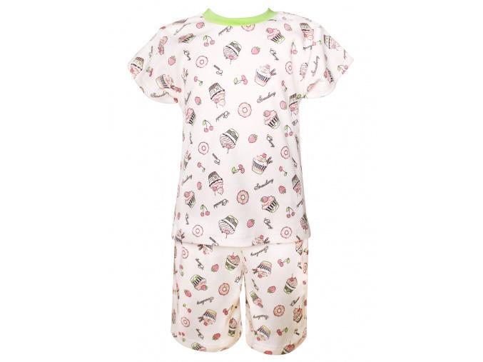 Dětské letní pyžamo s muffiny
