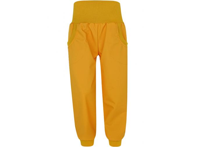 Dětské hořčicové letní softshellové kalhoty