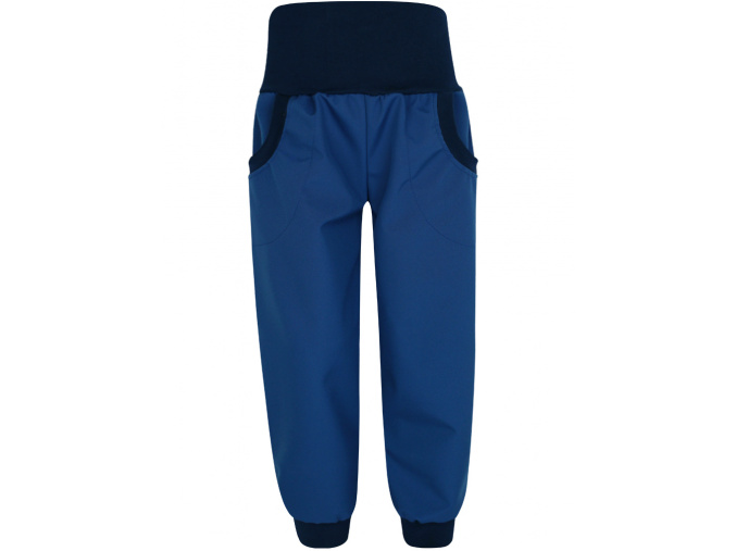 Dětské tmavě modré letní softshellové kalhoty