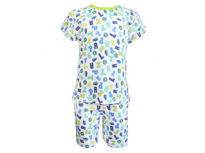 Dětské letní pyžamo s písmenky