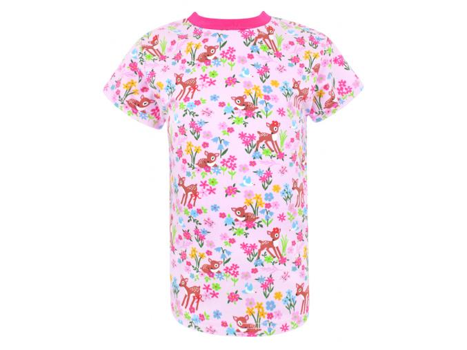 Dětské triko s krátkým rukávem srnky a kytičky