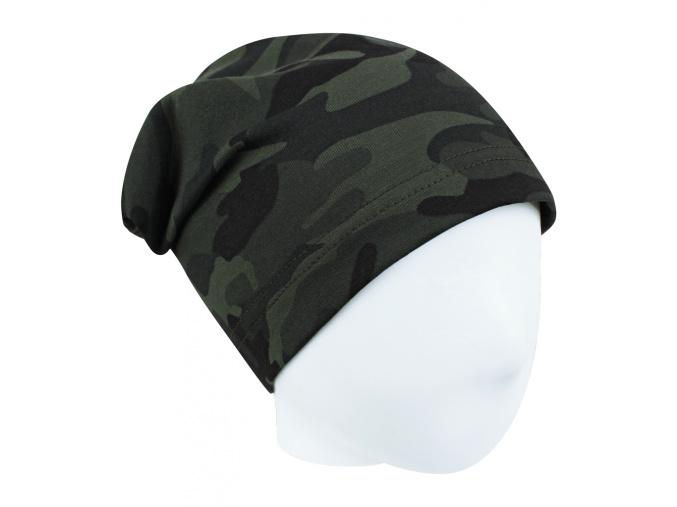 Dětská maskáčová čepice šedý odstín