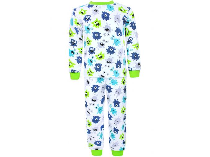 Dětské pyžamo s dlouhým rukávem příšerky na bílé