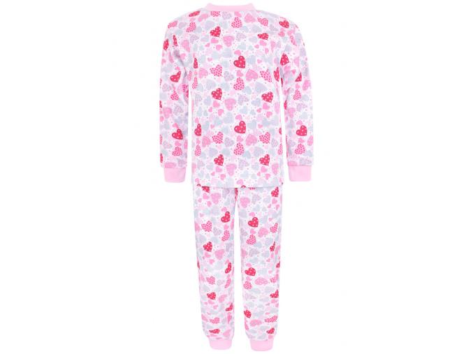Dětské dívčí pyžamo růžová srdíčka
