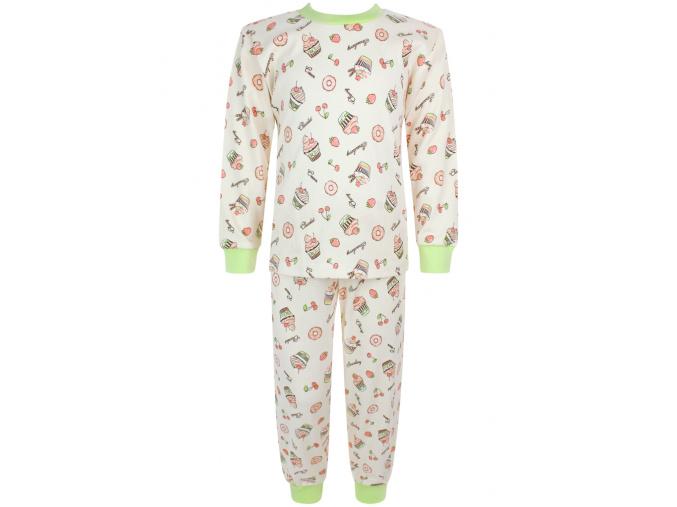 Dětské dívčí pyžamo dortíky