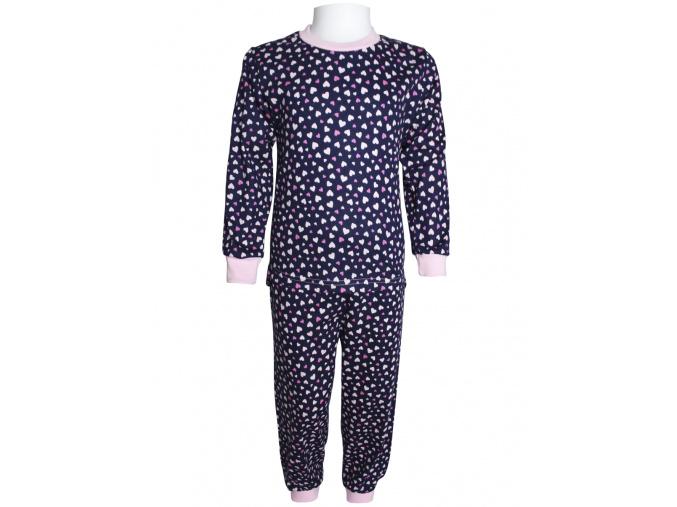 Dětské pyžamo se srdíčky