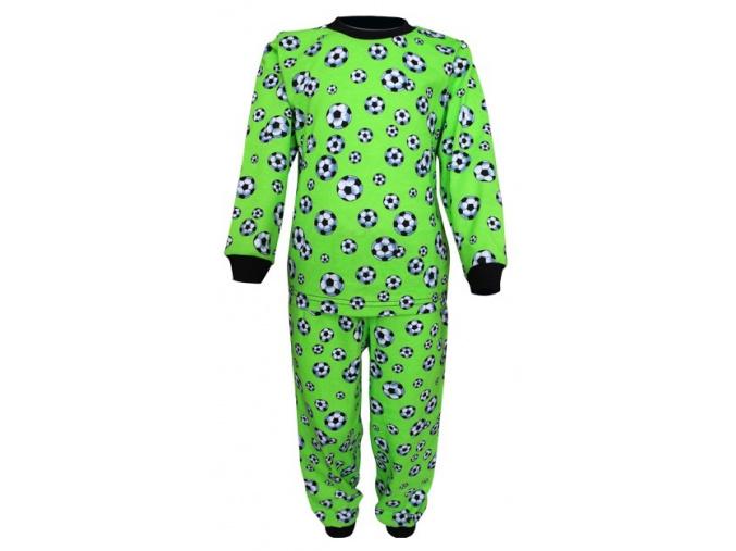 Dětské pyžamo - zelený fotbal