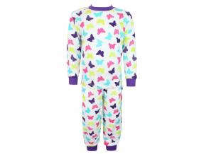 Dětské pyžamo s dlouhým rukávem motýlci