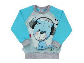 Dětská mikina modrý medvídek