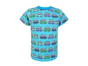 Dětské modré tričko s autobusy
