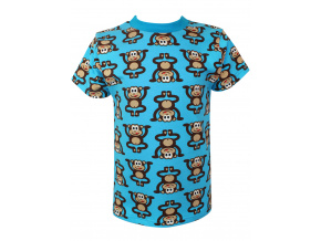 Dětské tričko pro kluky opičky na modré