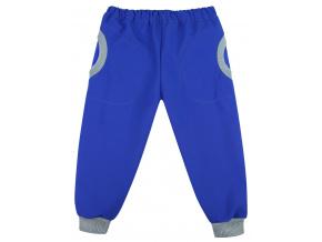 Dětské modré softshellové kalhoty