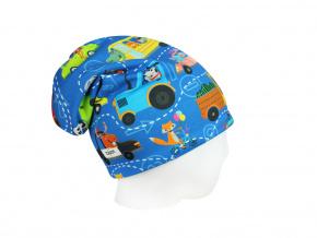 Dětská čepice autíčka