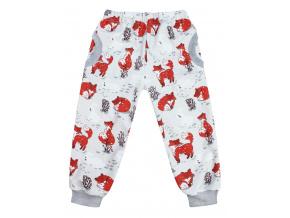 Dětské softshellové kalhoty lišky
