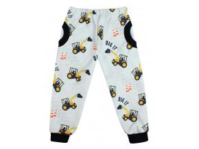 Dětské softshellové kalhoty bagry