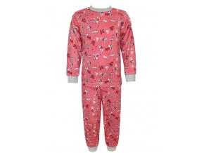 Dětské pyžamo pejsci na starorůžové