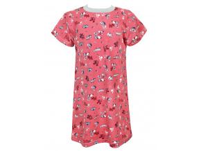 Dětská noční košilka pejsci na starorůžové