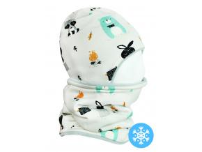 Dětská zimní čepice a nákrčník Králíčci