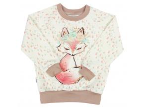 Dětská mikina lišky a kapky
