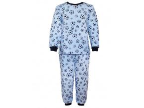 Dětské pyžamo modrý fotbal