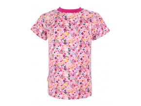 Dětské růžové triko s kytičkami