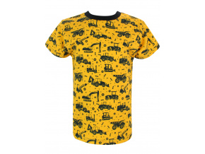 Dětské triko Bagry na hořčicové